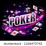casino gambling poker...   Shutterstock .eps vector #1106473742