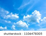 azure sky or sky blue beautiful ... | Shutterstock . vector #1106478305