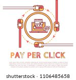 pay per click poster and text... | Shutterstock .eps vector #1106485658