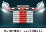 scoreboard illuminated by...   Shutterstock .eps vector #1106488352