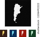 map of argentina   Shutterstock .eps vector #1106492222