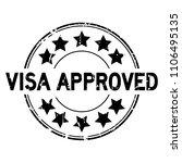 grunge black visa approved with ...   Shutterstock .eps vector #1106495135