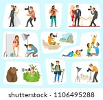 photographer and clients set ... | Shutterstock .eps vector #1106495288