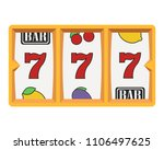slot machine icon with lucky... | Shutterstock .eps vector #1106497625