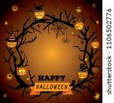 happy halloween wreath design...   Shutterstock .eps vector #1106502776