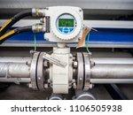 magnetic flow transmitter in... | Shutterstock . vector #1106505938