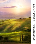 italy  san quirico d'orcia ... | Shutterstock . vector #1106507795