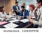 group of business people having ... | Shutterstock . vector #1106509958