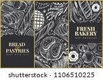 bakery top view design... | Shutterstock .eps vector #1106510225