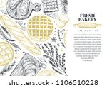 vector bakery hand drawn... | Shutterstock .eps vector #1106510228