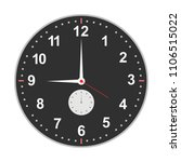 clock face. icon of the dial... | Shutterstock .eps vector #1106515022