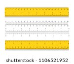 school measuring ruler with... | Shutterstock .eps vector #1106521952