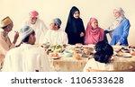 muslim family having a ramadan... | Shutterstock . vector #1106533628