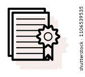 degree certificate document  | Shutterstock .eps vector #1106539535