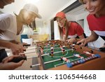 girls having fun playing... | Shutterstock . vector #1106544668