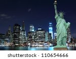 manhattan skyline and the... | Shutterstock . vector #110654666