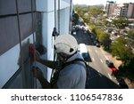 rope access job worker wearing...   Shutterstock . vector #1106547836