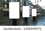 three lightbox on evening...   Shutterstock . vector #1106549972