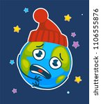 vector cartoon earth planet... | Shutterstock .eps vector #1106555876