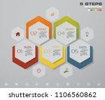 modern 5 options presentation... | Shutterstock .eps vector #1106560862