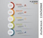 5 steps timeline arrow... | Shutterstock .eps vector #1106560868