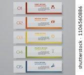 design clean number banners...   Shutterstock .eps vector #1106560886