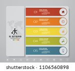 infographic template with 5... | Shutterstock .eps vector #1106560898