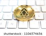 crypto eos.io currency bitcoin...   Shutterstock . vector #1106574656
