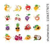 funny fruit   isolated cartoon...   Shutterstock . vector #1106577875