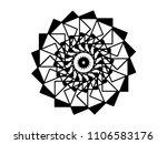 black vector mandala on white... | Shutterstock .eps vector #1106583176