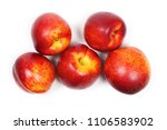 Ripe Peaches Isolated On White...