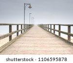 wooden bridge on a sea dock....   Shutterstock . vector #1106595878