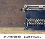 Close Up Of An Old Typewriter...