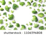 flat lay composition with fresh ... | Shutterstock . vector #1106596808