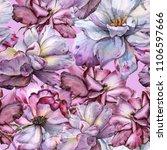background of roses. seamless... | Shutterstock . vector #1106597666