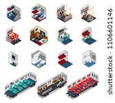 train interior isometric set of ... | Shutterstock .eps vector #1106601146
