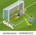 football soccer isometric... | Shutterstock .eps vector #1106601212