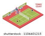 sport field tennis court...   Shutterstock .eps vector #1106601215