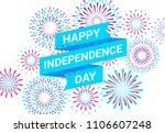 vector happy independence day... | Shutterstock .eps vector #1106607248
