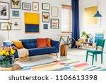 spacious living room interior... | Shutterstock . vector #1106613398