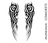 tattoo tribal sleeve  symmetric ... | Shutterstock .eps vector #1106618372