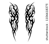 tattoos ideas arm sleeve... | Shutterstock .eps vector #1106618375