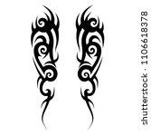 tattoos art ideas sleeve... | Shutterstock .eps vector #1106618378