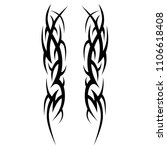 tattoos ideas sleeve designs  ... | Shutterstock .eps vector #1106618408
