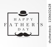 happy fathers day greeting.... | Shutterstock .eps vector #1106632628