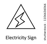 thunderbolt or flash sign ... | Shutterstock .eps vector #1106636066