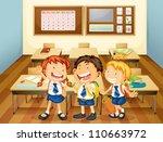 illustration of kids in... | Shutterstock .eps vector #110663972