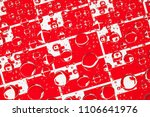 flags  of tonga  behind a glass ... | Shutterstock . vector #1106641976