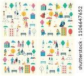 vector backgrounds in flat... | Shutterstock .eps vector #1106647652