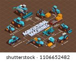 agricultural machines isometric ... | Shutterstock .eps vector #1106652482